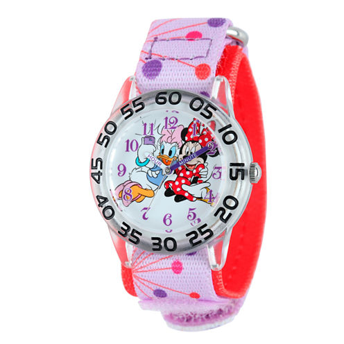 Disney Minnie Mouse Girls Pink Strap Watch-W001948