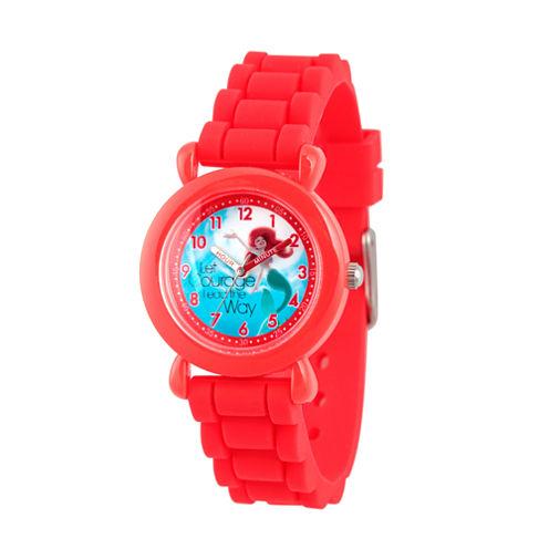 Disney Disney Princess Girls Red Strap Watch-Wds000017
