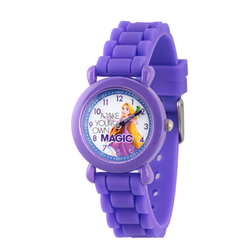 Disney Disney Princess Girls Purple Strap Watch-Wds000018