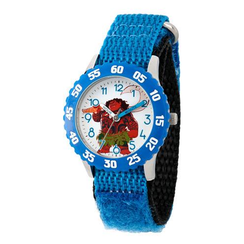 Disney Moana Boys Blue Strap Watch-Wds000033