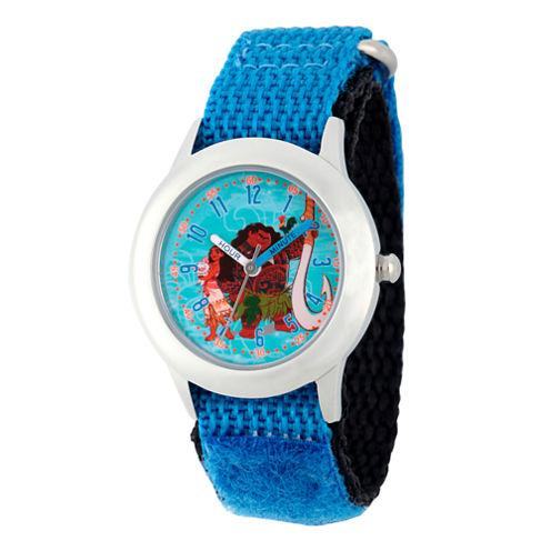 Disney Moana Boys Blue Strap Watch-Wds000036