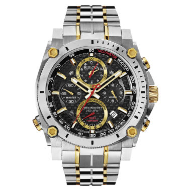 jcpenney.com | Bulova® Precisionist Mens Two-Tone Stainless Steel Chronograph Watch 98B228