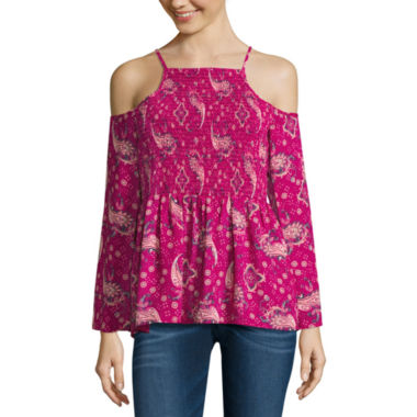jcpenney.com | Decree Long Sleeve Boat Neck Blouse-Juniors