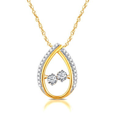 jcpenney.com | 1/3 CT. T.W. White Diamond Round 10K Gold Pendant