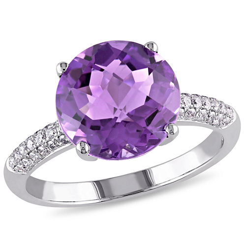 Purple Amethyst 14K Gold Engagement Ring