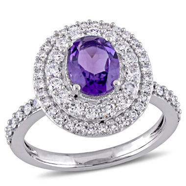 jcpenney.com | Womens Purple Amethyst 14K Gold Engagement Ring
