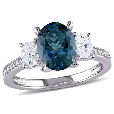jcpenney.com | Womens Blue Topaz 14K Gold Engagement Ring