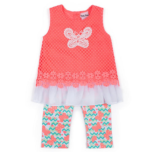Little Lass 2-pc. Legging Set Girls