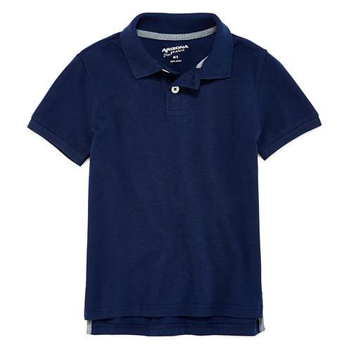 Arizona Short Sleeve Solid Pique Polo Shirt - Preschool Boys