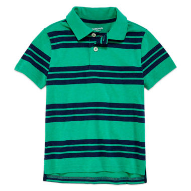 jcpenney.com | Arizona Short Sleeve Stripe Pique Polo Shirt - Preschool Boys