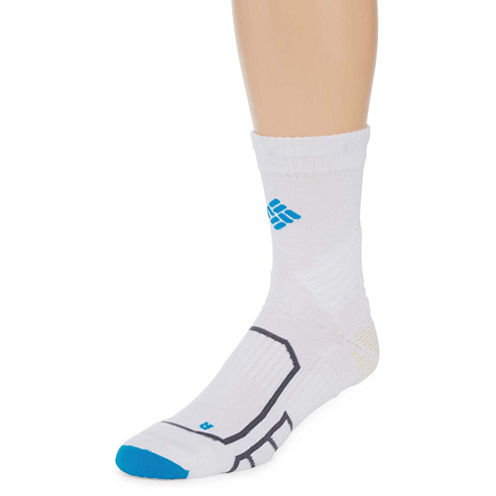 Columbia® Mens Midweight Performance Running Quarter Socks