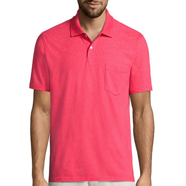 St john 39 s bay short sleeve pocket polo shirt jcpenney for Jcpenney ladies polo shirts