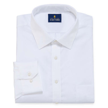 jcpenney.com | Stafford® Executive Non-Iron Cotton Pinpoint Oxford Dress Shirt - Big & Tall