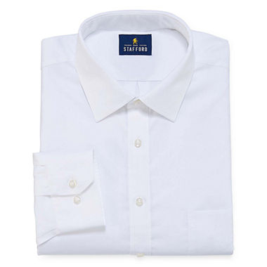 Stafford executive non iron cotton pinpoint oxford dress for Stafford big and tall shirts