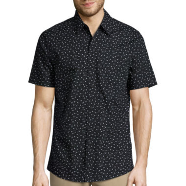 jcpenney.com | Haggar Short Sleeve Micrographic Print Shirt
