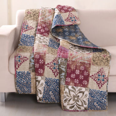 jcpenney.com | Greenland Home Fashions Charmed Cranberry Quilted Throw