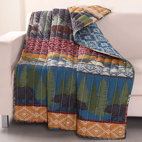 Greenland Home Fashions Black Bear Lodge Quilted Throw