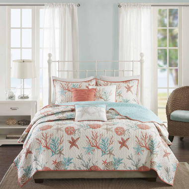 jcpenney.com | Madison Park Pacific Grove 6-pc. Coverlet Set