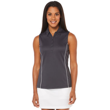 jcpenney.com | PGA Tour Sleeveless Solid Mesh Polo Shirt