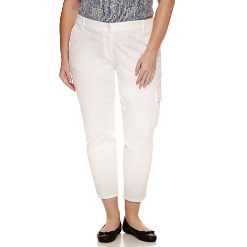 Liz Claiborne Curvy Fit Slim Pants-Plus
