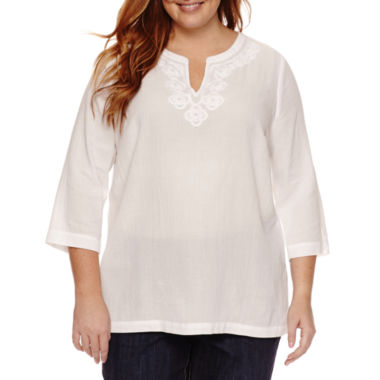 jcpenney.com | Liz Claiborne Tunic Top Plus