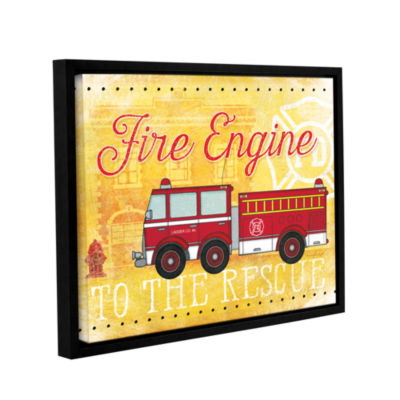 Brushstone Fire Rescue Gallery Wrapped Floater-Framed Canvas Wall ...