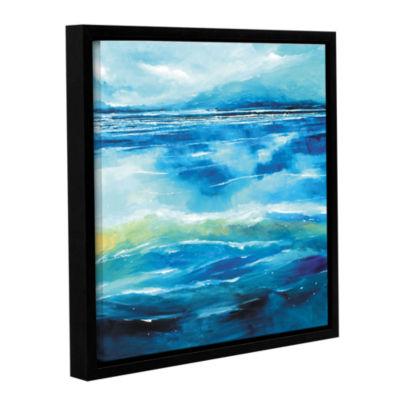 Brushstone Seascape V Gallery Wrapped Floater-Framed Canvas Wall Art ...
