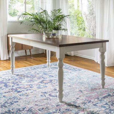 turned leg dining table. 60\ Turned Leg Dining Table N