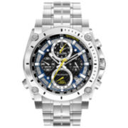 Bulova Mens Precisionist Chronograph Silver-Tone Watch