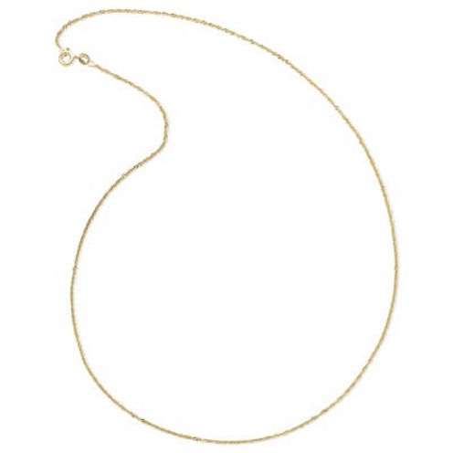 Made in Italy 14K Yellow Gold Singapore Chain Necklace