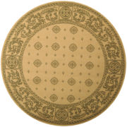 Courtyard Medallion Indoor/Outdoor Round Rugs