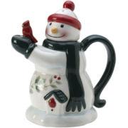 Pfaltzgraff® Winterberry Mini Snowman Teapot