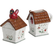 Pfaltzgraff® Winterberry Cardinal Sugar And Creamer