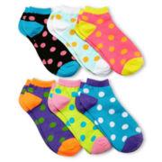6-pk. Polka Dot Low-Cut Socks