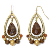 Brown Teardrop Bead Earrings