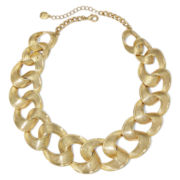 Monet® Gold-Tone Chain-Link Collar Necklace