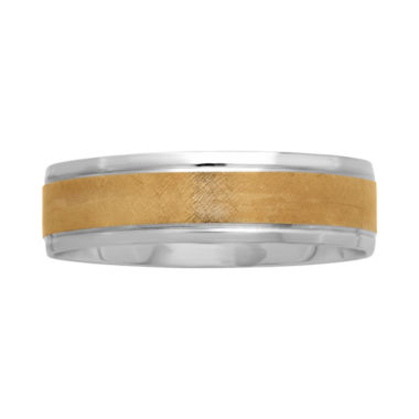 jcpenney.com |  Mens 6mm Two-Tone 10K Gold Wedding Band