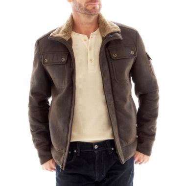 jcpenney.com | R&O Faux-Shearling Aviator Jacket