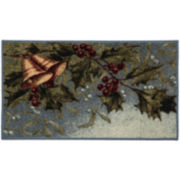 Holly Bells Holiday Rectangular Rug