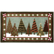 Trendy Trees Holiday Rectangular Rug