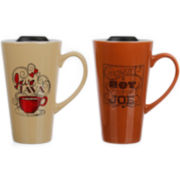 Set of 2 Travel Latte Mugs