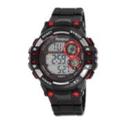 Armitron® Mens Black Resin Strap Chronograph Watch 40/8332RED
