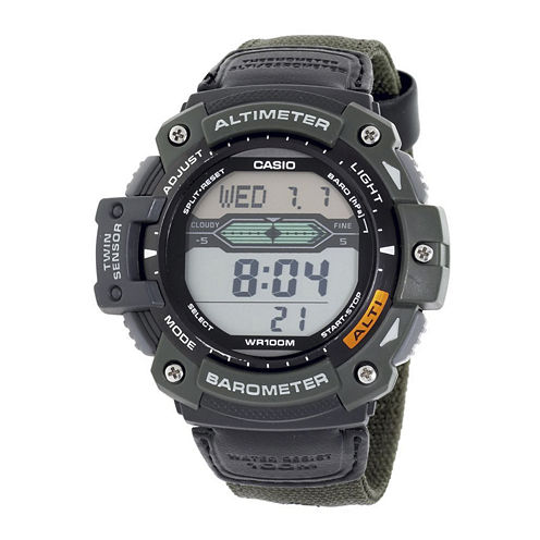 Casio® Twin Sensor Mens Altimeter/Barometer Digital Sport Watch SGW300HB-3AVCF