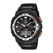 Casio® Twin Sensor Mens Black Resin Strap Analog/Digital Sport Watch