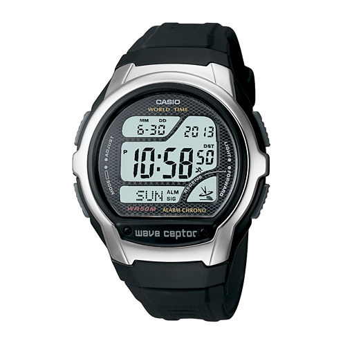 Casio® Wave Ceptor Mens Atomic Timekeeping Digital Sport Watch WV58A-1AV