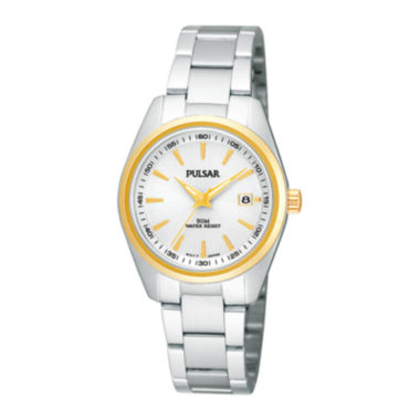 jcpenney.com | Pulsar® Womens Stainless Steel Bracelet Watch PJ2010X