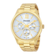 Pulsar® Womens Gold-Tone Stainless Steel Bracelet Watch