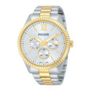 Pulsar® Womens Stainless Steel Bracelet Watch