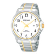 Pulsar® Mens Two-Tone Stainless Steel Watch PS9163X