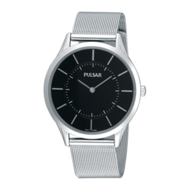 jcpenney.com | Pulsar® Mens Stainless Steel Mesh Watch PTA499X